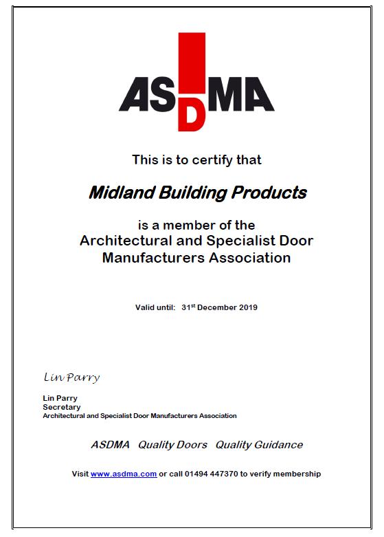 ASDMA Membership Certificate 2019