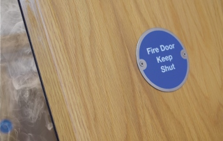 Fire Door Sign with Smoke